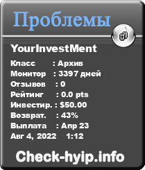 Monitored by Мониторинг check-hyip.info